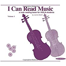 I Can Read Music: For Viola Volume 1 by Joanne Martin (1994-10-01)