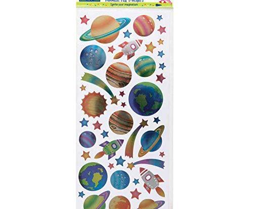Metallic-Sticker 10x23cm - Raum, Docrafts, Einfach, Scrapbooking Papier -
