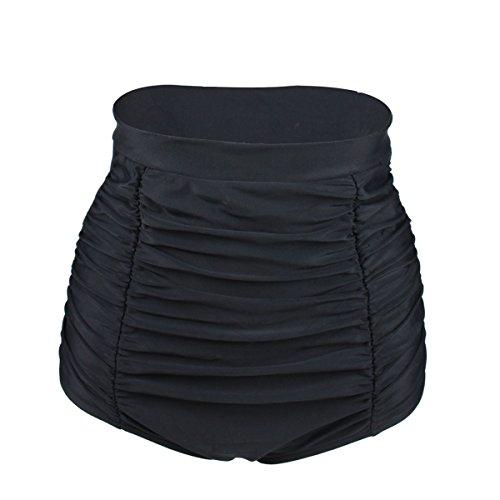 Gigileer Elegante / Figurumspielende / Minimizer Bikini Hose / High Waist Bikinihose / Slip Schwarz M (Hose Slip)
