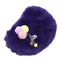 Hengxing Girls Cute Fluffy Plush Crossbody Bag Soft Ball Handbag Princess Messenger Bag Toddler Coin Purse Wallet,Purple