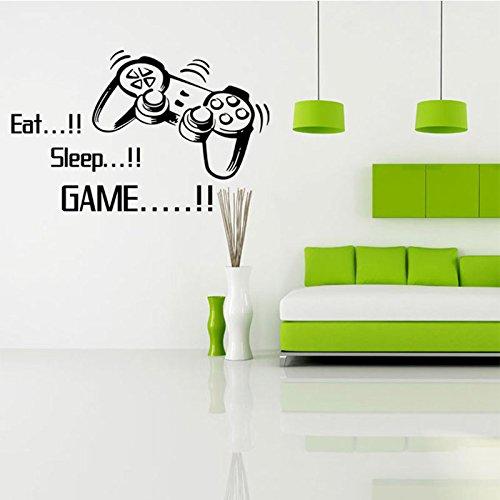 EAT SLEEP Game Vinyl Wall Art Aufkleber, Gamer Xbox PS3Schlafzimmer Jungen Mädchen Aufkleber