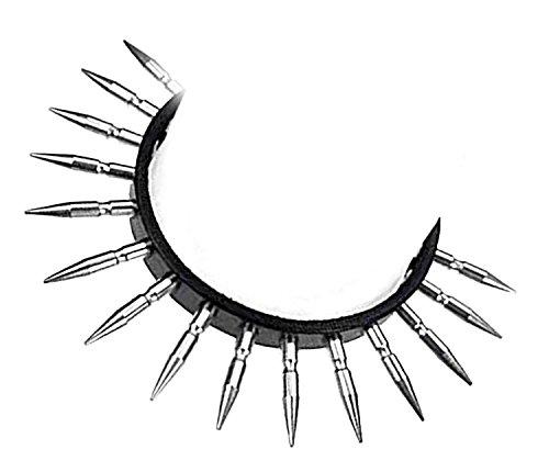 Schwarzes Nieten-Halsband mit 15 extra langen Killernieten, Gothic, -