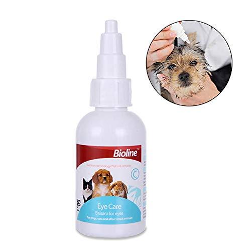 Hifuture 2pcs Augentropfen für Hunde und Katzen,Milde sterile Eye Drops,lindert die Reizung und verhindert Tränenflecken,für die Reinigung der Augen, für Hunde, Katzen, Pferde und Kleintiere,50ml