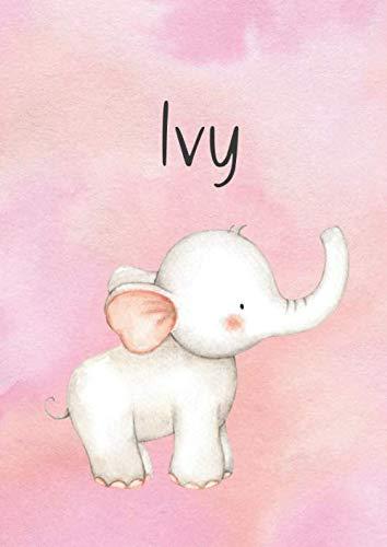 Ivy: DIN A4 • Blanko 100 Seiten • Individueller Kalender • Vornamen Notizbuch • Notizblock Pink • Personalisiertes Malbuch • Rosa Kinderbuch • Jugendbuch • Namensbuch • Malblock mit Name (Ivy Block)