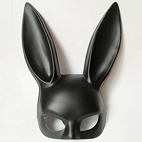 (FHDUY Halloween Maske Die Maskerade Kaninchen Ohr Maske Bar KTV Party Kaninchen Mädchen Männlicher Sex Appealschwarz)