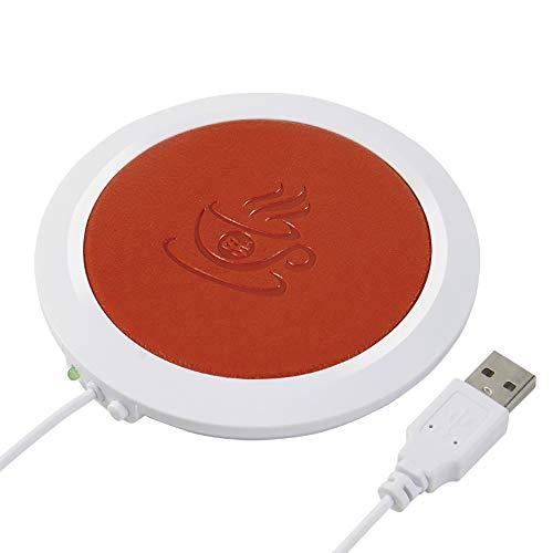 ONEVER PU Kaffee Warmer Platte mit automatischer Abschaltung Temperatur bis zu 185 ℉ / 85 ℃ für Büro & Büro Kaffee Zubehör (Orange) ()
