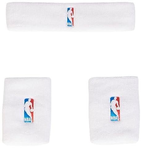 adidas NBA Serre-poignet + bandeau Homme Blanc/Noir