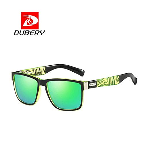bescita DUBERY Herren Retro Vintage Sonnenbrille im angesagte Browline-Style mit markantem Halbrahmen Sonnenbrille, Brillen Trends 2018 (F)