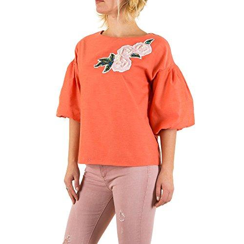 Bestickte Pailletten Bluse Für Damen bei Ital-Design Coral