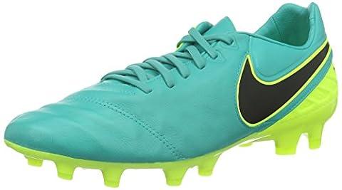Nike Herren Tiempo Legacy II FG Fußballschuhe, Verde (Clear Jade / Black-Volt), 46 EU