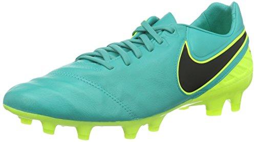 Nike Herren Tiempo Legacy II FG Fußballschuhe, Verde (Clear Jade/Black-Volt), 44 EU (Schuhe Nike Futbol)