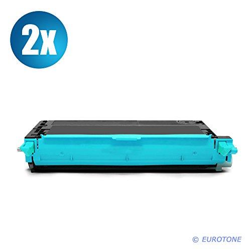 2X Eurotone Toner mit 50% mehr Leistung für Phaser 6180 ersetzen Xerox Blaue -