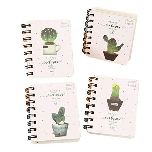 ine spirale Notepad niedlichen Kaktus Notebook Mini Planer notepads notizblock tägliche bürobedarf ()