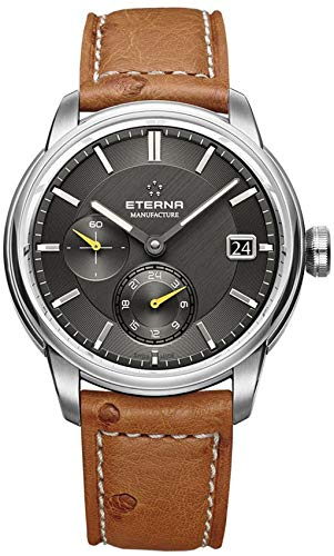 Eterna Adventic Automatik Uhr, Eterna 3914A, Crocodileband, Schwarz