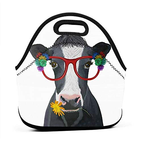 Cow Lunch Bag Tote Bag Lunch Bags for Women Men Lunch Organizer Lunch Holder Insulated Lunch Cooler Bag for Women/Men