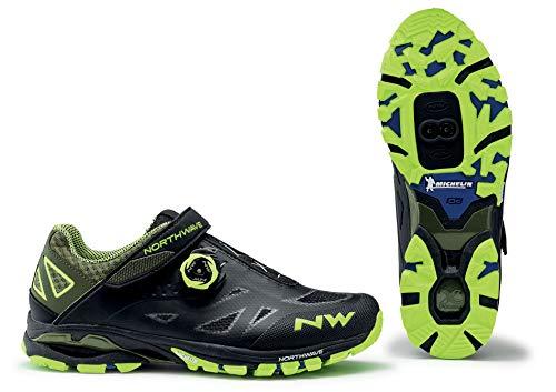 Northwave Spider Plus 2 MTB Trekking Fahrrad Schuhe schwarz/gelb 2020: Größe: 48