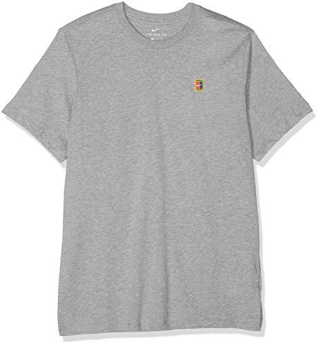 Dk Grey T-shirt (Nike Herren M NKCT Heritage T-Shirt, dk Grey Heather, L)