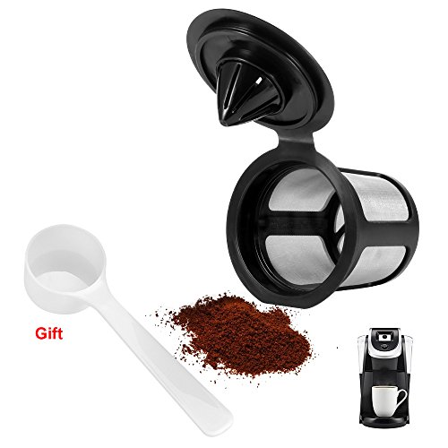 wiederverwendbar K Tasse Kaffee Filter für Keurig 2.0Kaffeemaschine, nachfüllbar K Tasse leer Kaffee Kapsel Filter Pod Ersatz für Cafe Tasse schwarz - Wiederverwendbar Keurig Kaffee-tassen