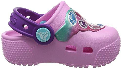 Crocs Crocsfunlab Lights Gem/Cntn, Zoccoli Unisex – Bambini Multicolore (Gems/Carnation)