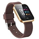Altsommer FitnessTracker Smart Watch Bluetooth 1,3 großer OLED Bildschirm,Pulsuhr Bluetooth,IP67 wasserdicht,Schrittzähler, Schlafmonitor, Shake-Foto,Kalorien für Android iOS (Braun)
