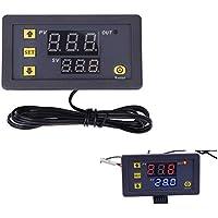 diymore W3230 - Termostato digital LCD de 12 V 20 A, controlador de temperatura, medidor de sensor, regulador de calefacción, refrigeración con alarma de alta temperatura