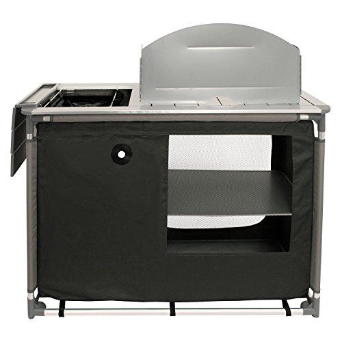 CampFeuer - Campingschrank, Campingküche mit Aluminiumgestell, Spritzschutz und Waschbecken