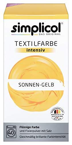 Simplicol Textilfarbe intensiv (18 Farben), Sonnen-Gelb 1801: Einfaches Färben in der Waschmaschine, All-in-1 Komplettpackung