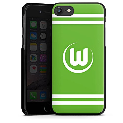 Apple iPhone X Silikon Hülle Case Schutzhülle Vfl Wolfsburg Fanartikel Wölfe Fussball Hard Case schwarz