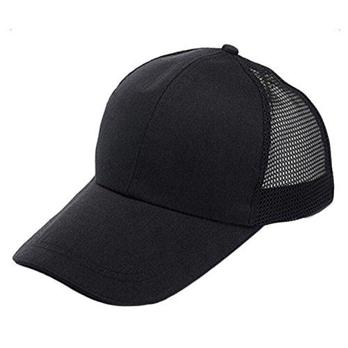 Drawihi praktische Kappe Sonnenhut Baseballmütze für Outdoor-Aktivitäten und Sport (schwarz)