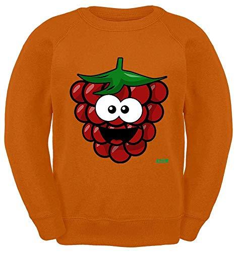 Kostüm Himbeer Mädchen - HARIZ Kinder Sweater Himbeere Lachend Frucht Süß Plus Geschenkkarten Orange 116/5-6 Jahre