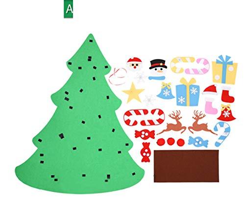 YH-Decoration Adornos Navideños para Niños Rompecabezas Hechos A Mano DIY,A