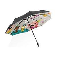 Umbrella Boys Happy Birthday Cute Funny Card Portable Compact Folding Umbrella Anti Uv Protection Windproof Outdoor Travel Women Auto Umbrella