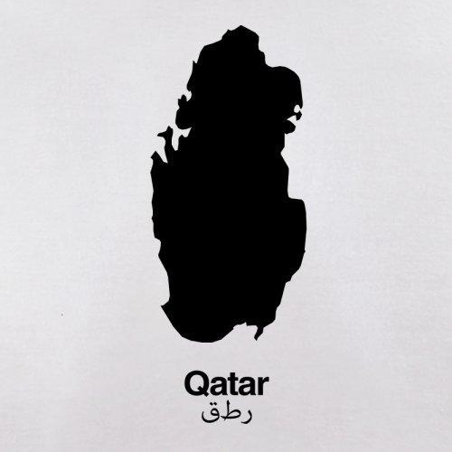 Qatar / Katar Silhouette - Herren T-Shirt - 13 Farben Weiß