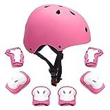 Set di protezioni per bambini Toddler Kids Casco per bici Gomitiere per...