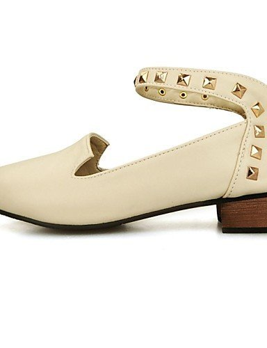 Chaussures Femme Shangyi - Mocassins - Formel - Pointu - Carré - Cuir - Noir / Rose / Rouge / Beige, Beige-us7.5 / Eu38 / Uk5.5 / Cn38, Beige-us7.5 / Eu38 / Uk5.5 / Cn38 Beige