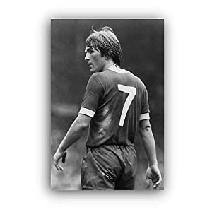 """KENNY DALGLISH CANVAS FRAMED WALL ART PRINT - LIVERPOOL A1 A2 A3 A4 (24"""" x 16"""") from Pictor Canvas"""