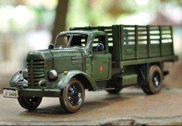 Vintage Decoración Retro Hummer Liberación Camión Colección Militar Recuerdos Hierro Coche Camión Miniatura