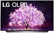LG OLED TV 55 Inch C1 Series Cinema Screen Design 4K Cinema HDR webOS Smart with ThinQ AI Pixel Dimming