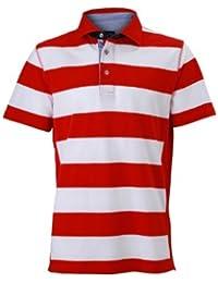 James & Nicholson Herren Poloshirt Polo Men's Maritime