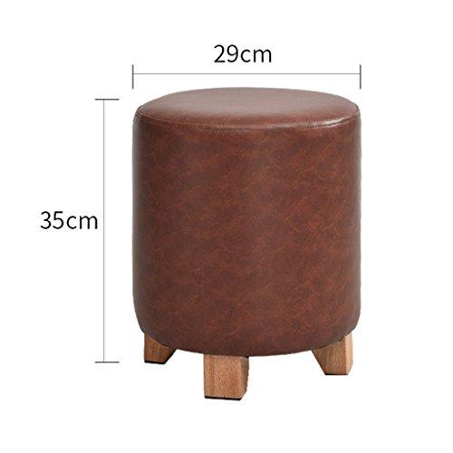 YXYH Runden Leder Sofabank Fußbank/Schemel/Ändern Schuhe Solide Holz Kreativ Modellierung/Dekorativ Möbel (Farbe : Red, Größe : 29cm*35cm)