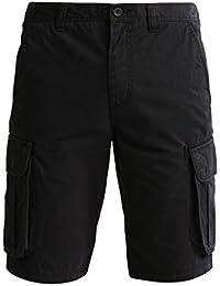 b2218d91ba08 Pier One Herren Shorts in Schwarz, Navy oder Blau – 100% Baumwolle – Kurze  Hosen für den Sommer mit Reißverschluss – Bermuda…