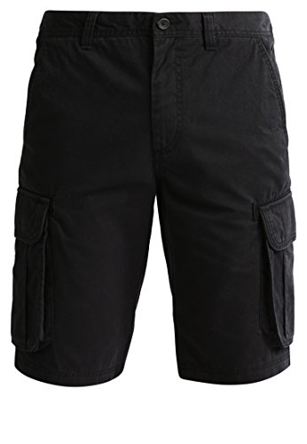 Pier One Herren Shorts in Schwarz, 33 (Schwarze Bermuda-shorts)