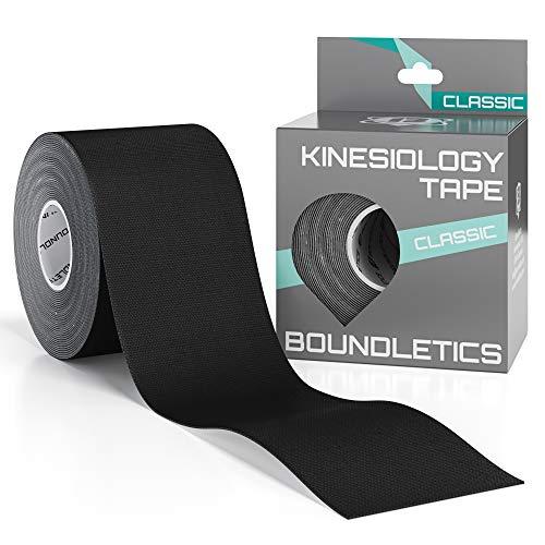 Boundletics Kinesiologie Tape Classic schwarz - 5m x 5cm Physiotape + Anleitung