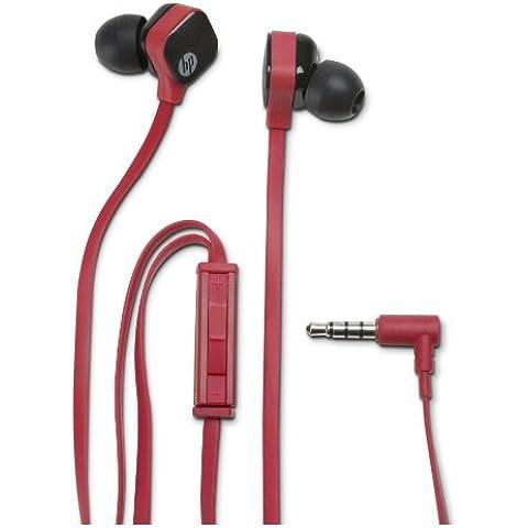 HP H2310 - Auriculares (Binaurale, Negro, Rojo, Dentro de oído, Alámbrico, Cualquier marca, 3.5 mm