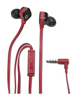 HP H2300 - Auriculares in-ear (3.5 mm, control remoto integrado, con micrófono), rojo (B00DSVWBOQ) | Amazon Products