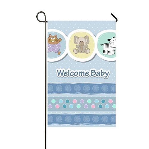 luhangshangmao farbbeständige Polyester Custom Flagge Dekoration Karte mit Tiere für Baby-Dusche Garten-Flagge im Willkommen Home