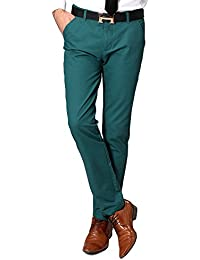 OCHENTA Homme Pantalon Chino Slim En Coton Droit Business Casual Cargo