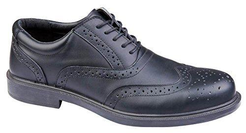 Delta Plus RICHMONDS1 Sécurité basses Chaussures travail Mens chaussure cuir Black