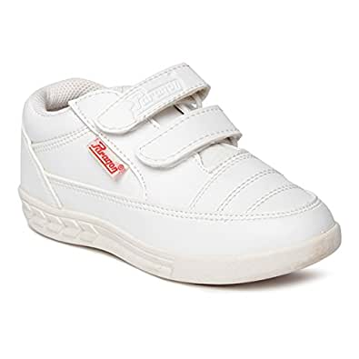 PARAGON Unisex's White Sneakers-12 Kids UK/India (31 EU) (PV0770C)
