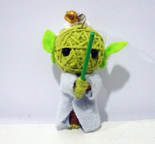 1 X Yoda String Doll Keychain by String Doll World